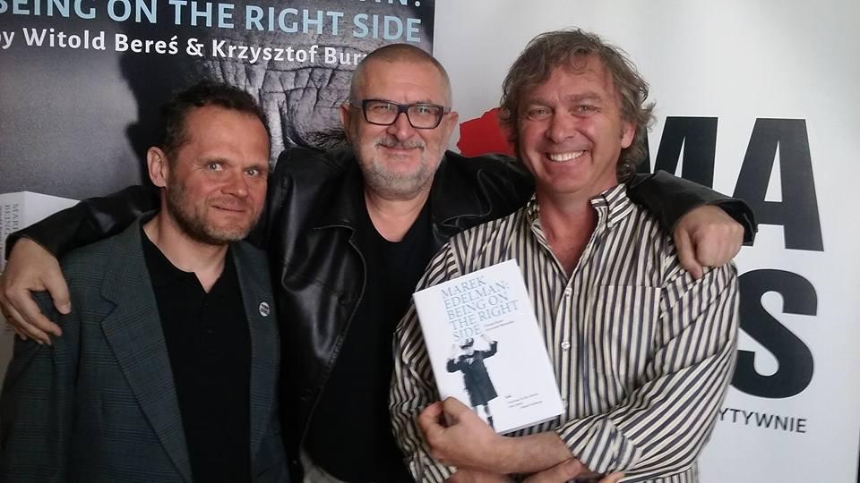 od lewej: Krzysztof Burnetko, Witek Bereś i Christopher Hunt